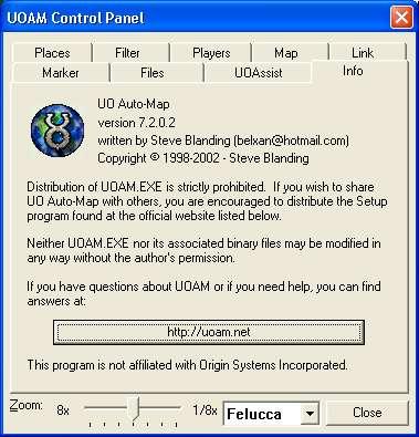 UOAM net - UO Auto-Map Help